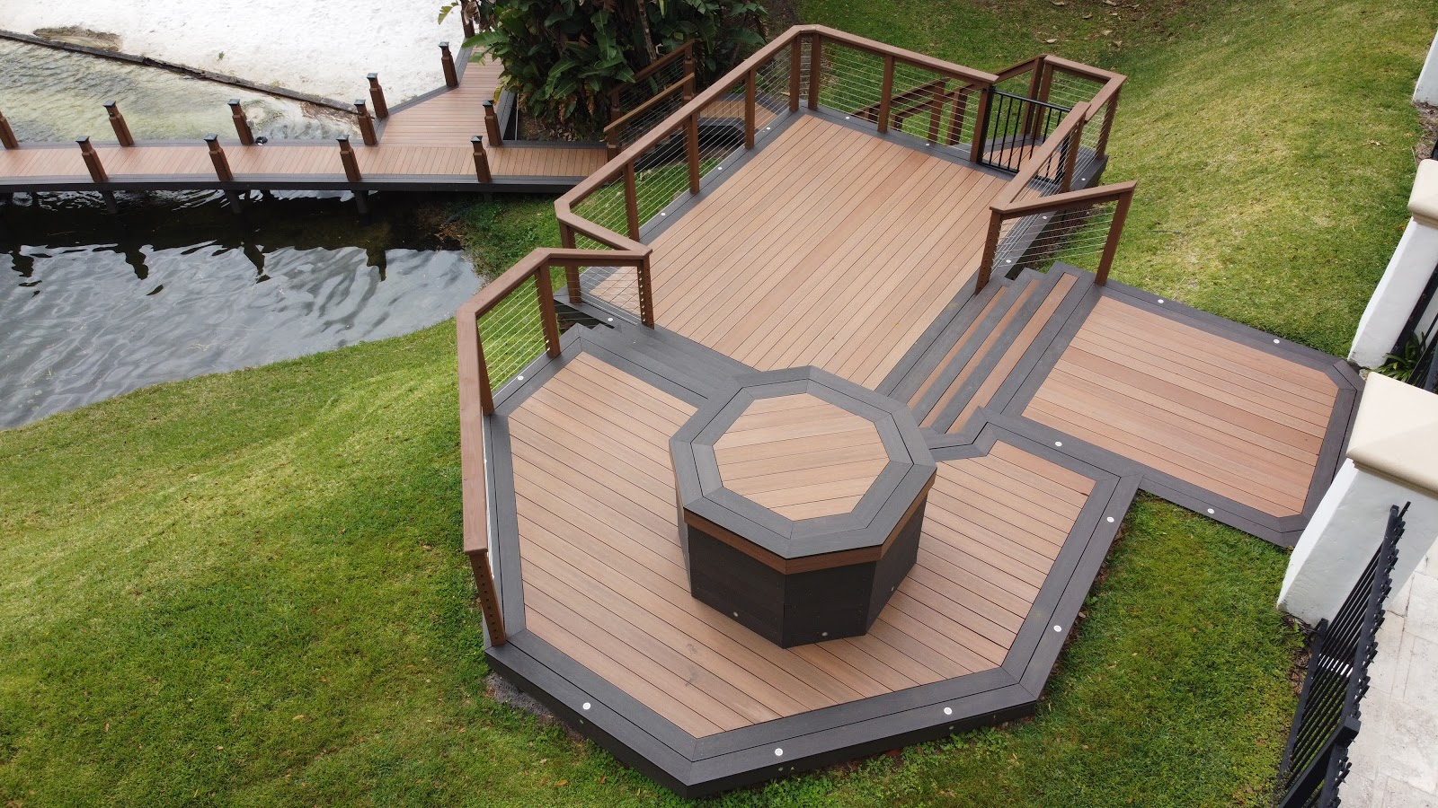 quality deck in backyard