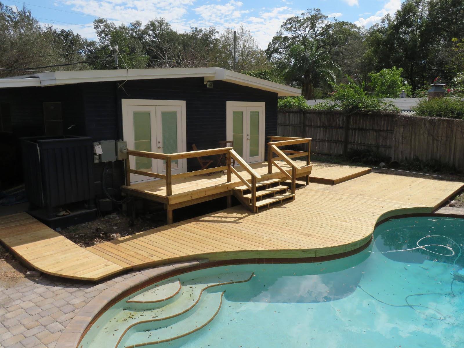 deck near pool McNish